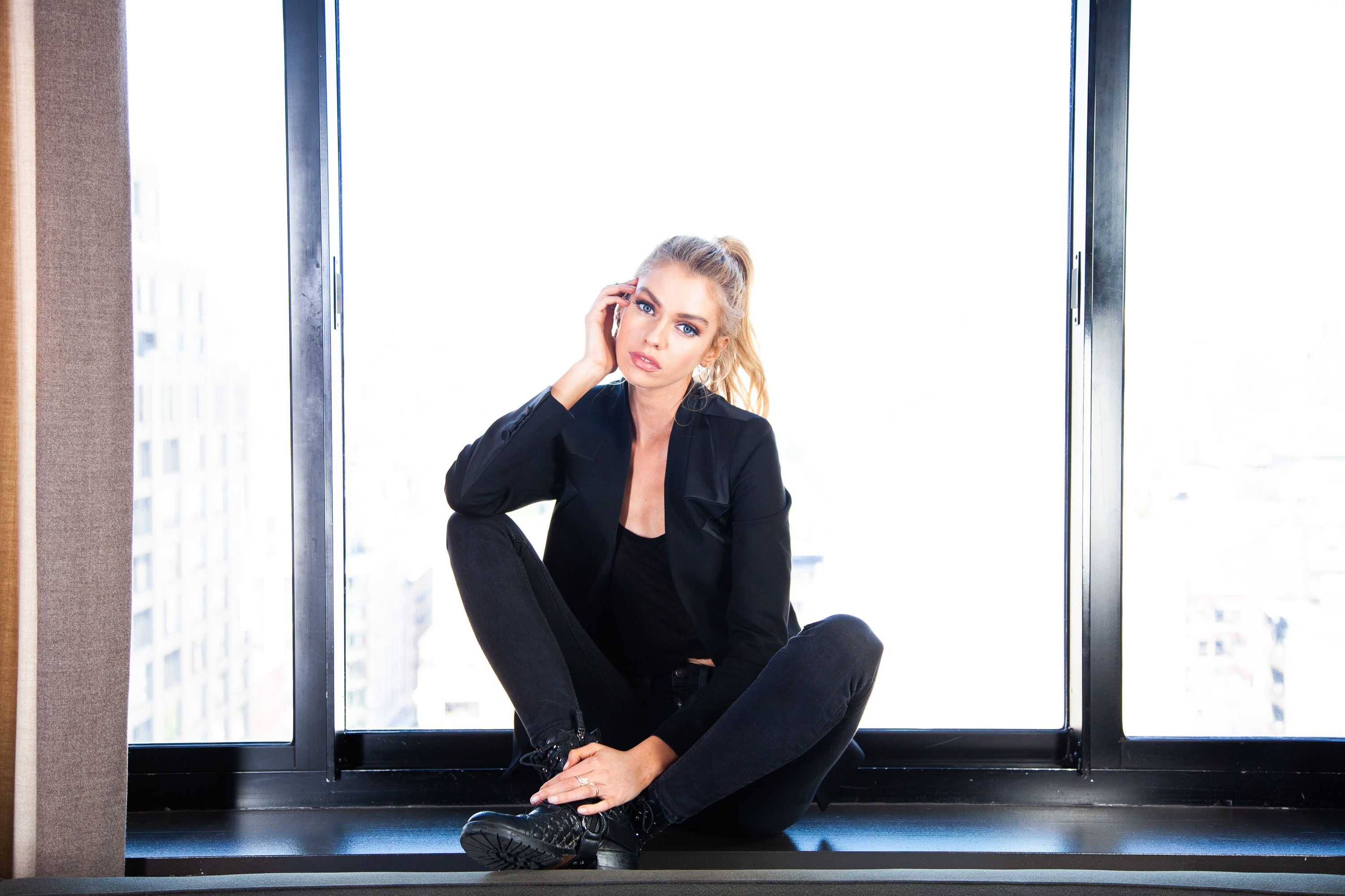 Beauty routine with Stella Maxwell